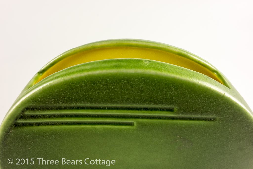 Art Deco Semi-Circular Vase