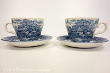 Salem China Colonial Village Cups and Saucers