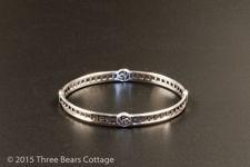 Silver Bangle with Mackintosh Style Design