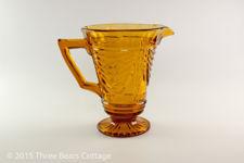 Sowerby Amber Glass Jug