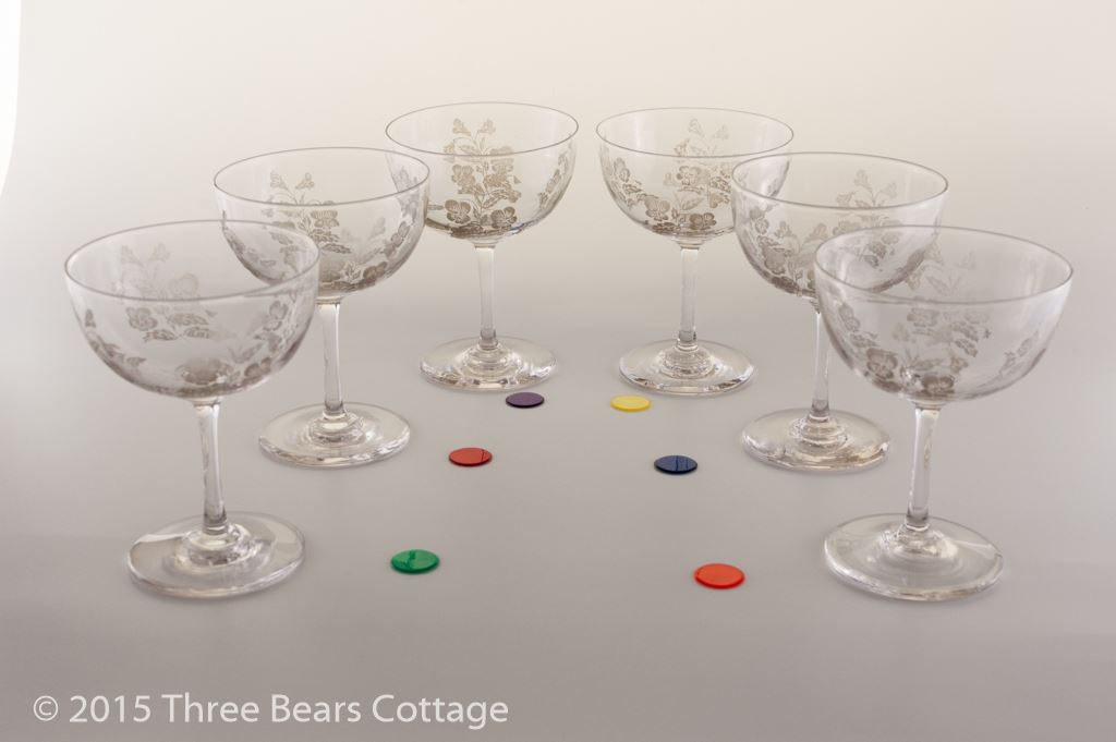 Victorian or Edwardian Champagne Coupes