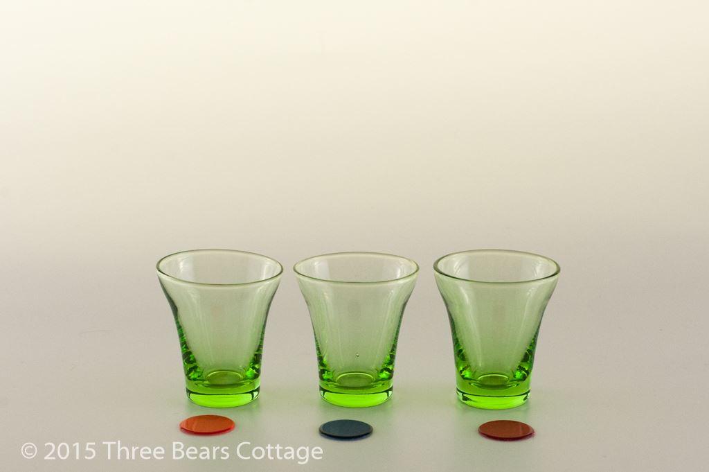 Green Shot Glasses