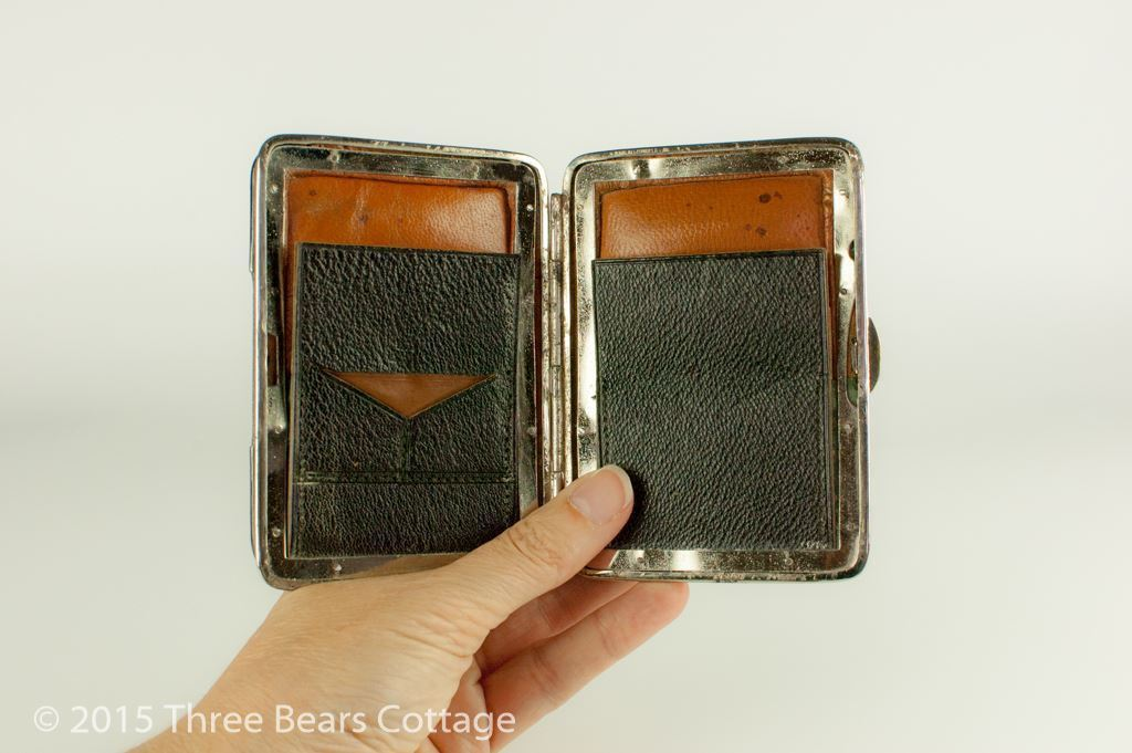 Edwardian Leather Wallet with Silver Mounts