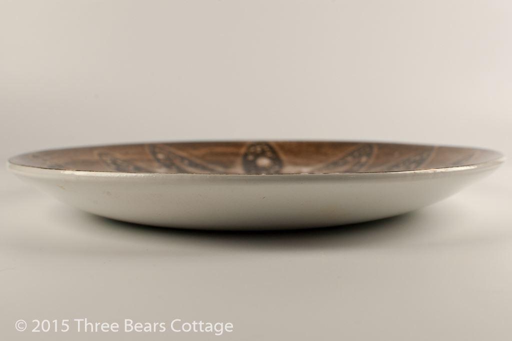 Cinque Ports Brown Leaf Design Oval Platter