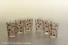 White and Gold Floral Shot Glasses
