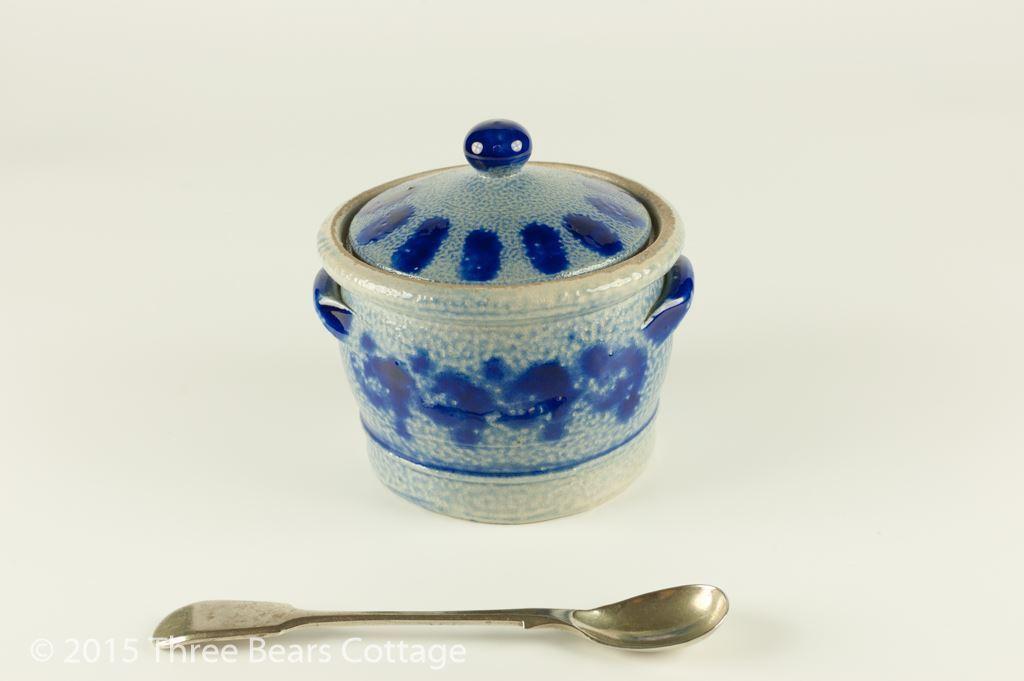 Blue and Grey Salt Glazed Pot
