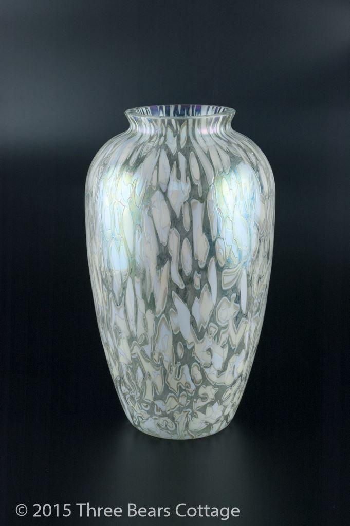 Iridescent Royal Brierley Studio Glass Vase