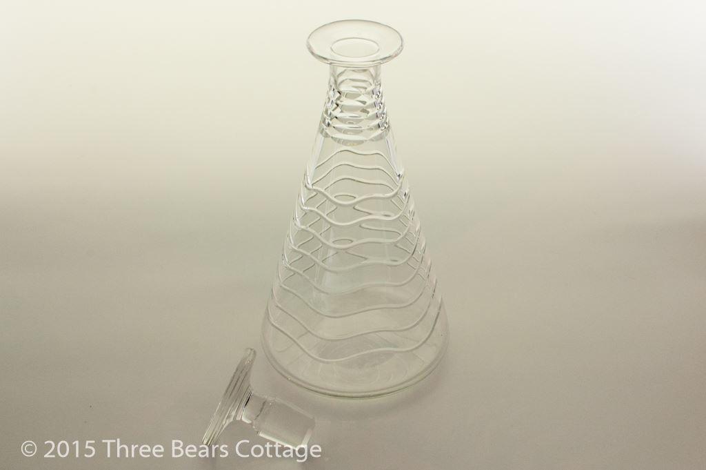Art Deco Conical Decanter by Webb Corbett