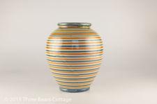 Humlebaek Keramik Striped Earthenware Vase