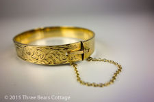 Engraved Rolled Gold Bangle