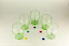 Green Glass Jug and Tumblers
