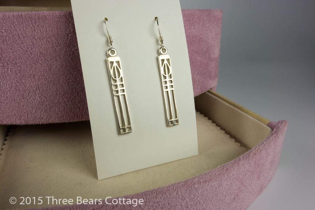 Sterling Silver Mackintosh Style Earrings