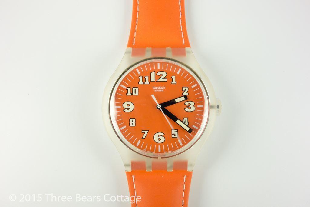 "Swatch ""Squeezed Pumpkins"" Watch"