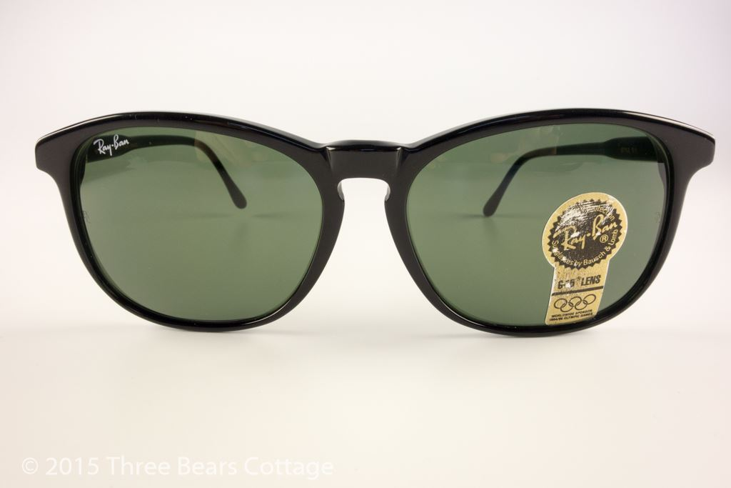 Ray-Ban Bausch & Lomb Ebony Premier Traditionals Style E-1 Sunglasses
