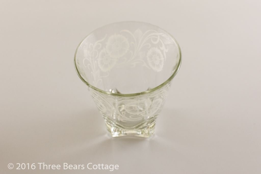 Large Shot Glasses with White Floral Pattern