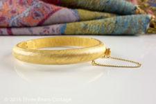 Crown Trifari Textured Bangle