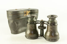 Edwardian Field Glasses and Case