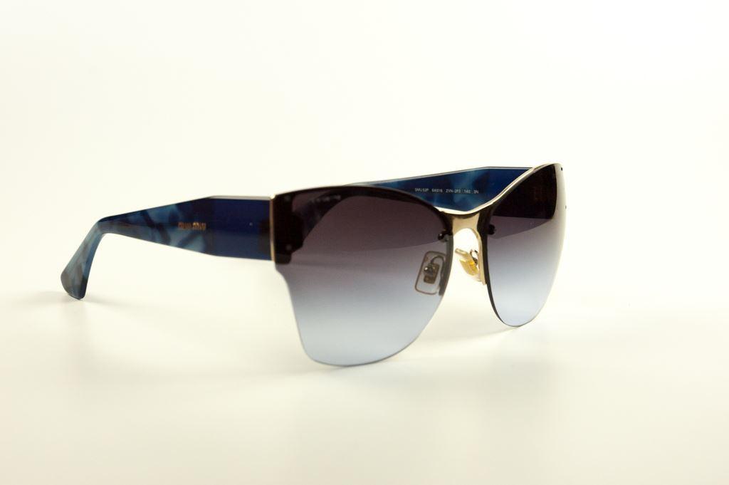 Miu Miu Blue Tortoiseshell Cats Eye Sunglasses