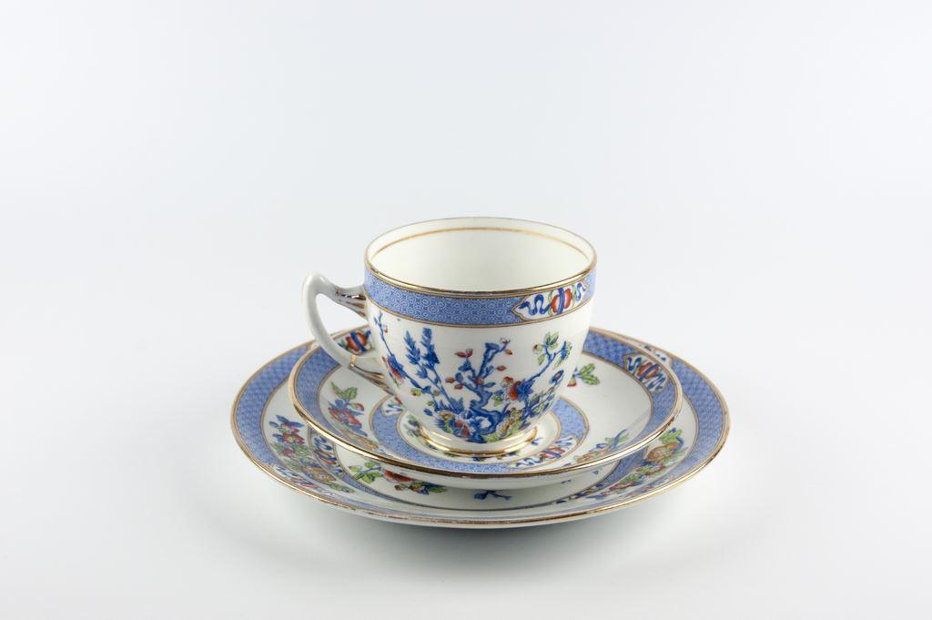 Lawleys Norfolk Pottery Teacup, Saucer & Plate Trio