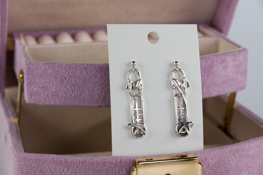 Edinburgh Silver Art Nouveau Earrings