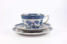 Real Old Willow Cup, Saucer and Plate Trio