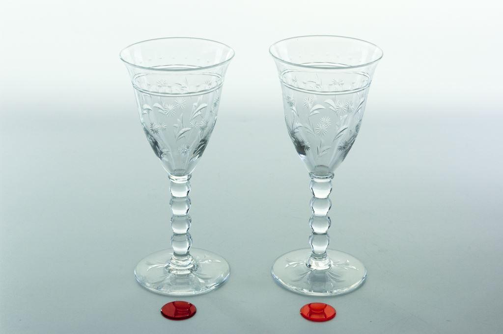Thomas Webb Engraved Sherry or Port Glasses