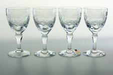 "Royal Brierley ""Honeysuckle"" Lead Crystal Small Wine Glasses"