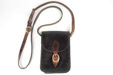 Small Black Leather Shoulder Cartridge Bag