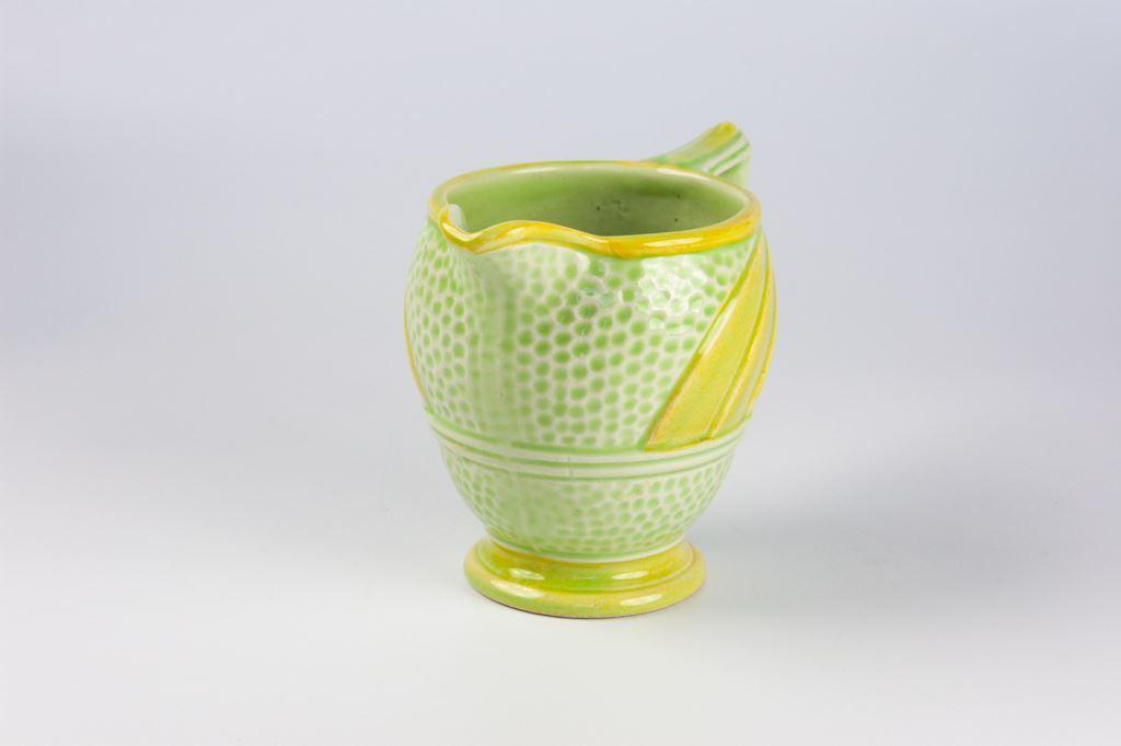 H Wain & Sons Art Deco Lemon and Lime Milk Jug