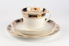 """Woods Ware """"Osborne"""" Cup, Saucer and Plate Trio"""
