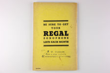 Framed Regal-Zonophone Record Catalogue for 1940-1941
