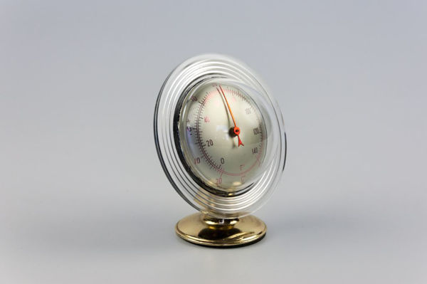 French Space Age Ringed Planet Desk Thermometer