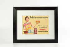"""Framed """"Sally's Tested Recipes"""" Booklet from the 1950s"""