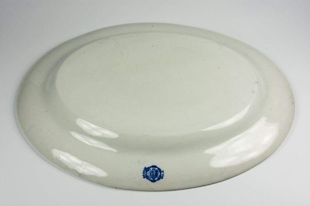 """W A Adderley """"Brugge"""" Oval Serving Platter"""