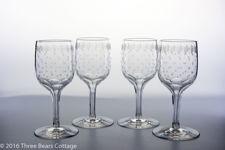 Edwardian Hollow Stemmed Crystal Wine glasses