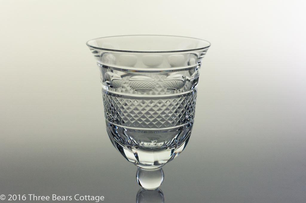 Fine Cut Lead Crystal Wine Glasses