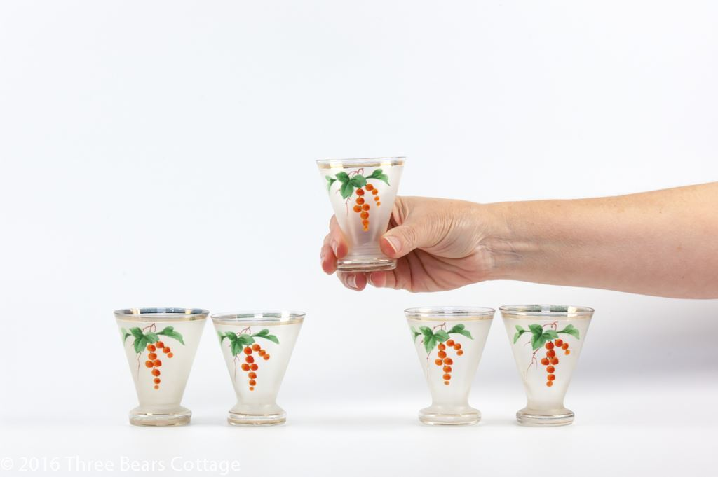 Hand Painted Frosted Shot Glasses