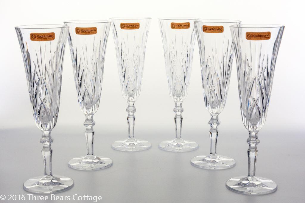 Nachtmann Palais Crystal Champagne Flutes