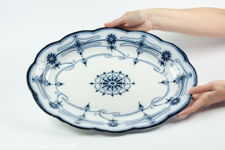 """Wedgwood & Co """"Burleigh"""" Large Oval Serving Platter"""