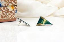 Triangular Art Deco Pierre Bex Style Earrings