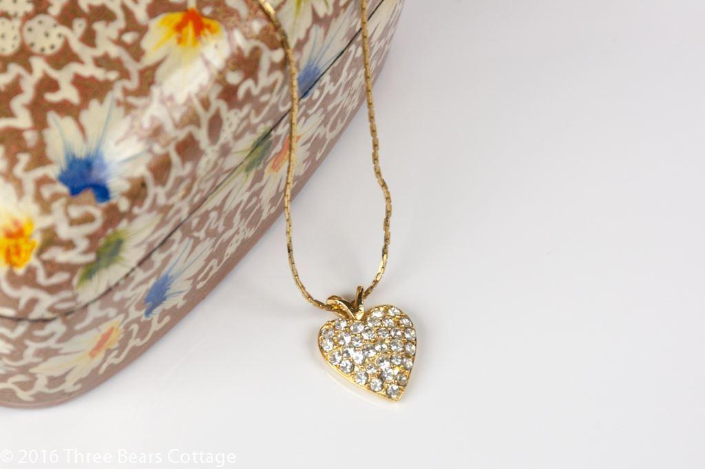Napier Diamante Heart Pendant