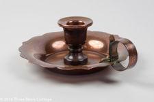 Henry Loveridge Copper Candlestick Holder