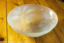 G Vallon Cherries Opalescent Glass Bowl