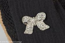 Monet Diamante Bow Brooch