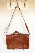 Large Light Brown Leather Satchel