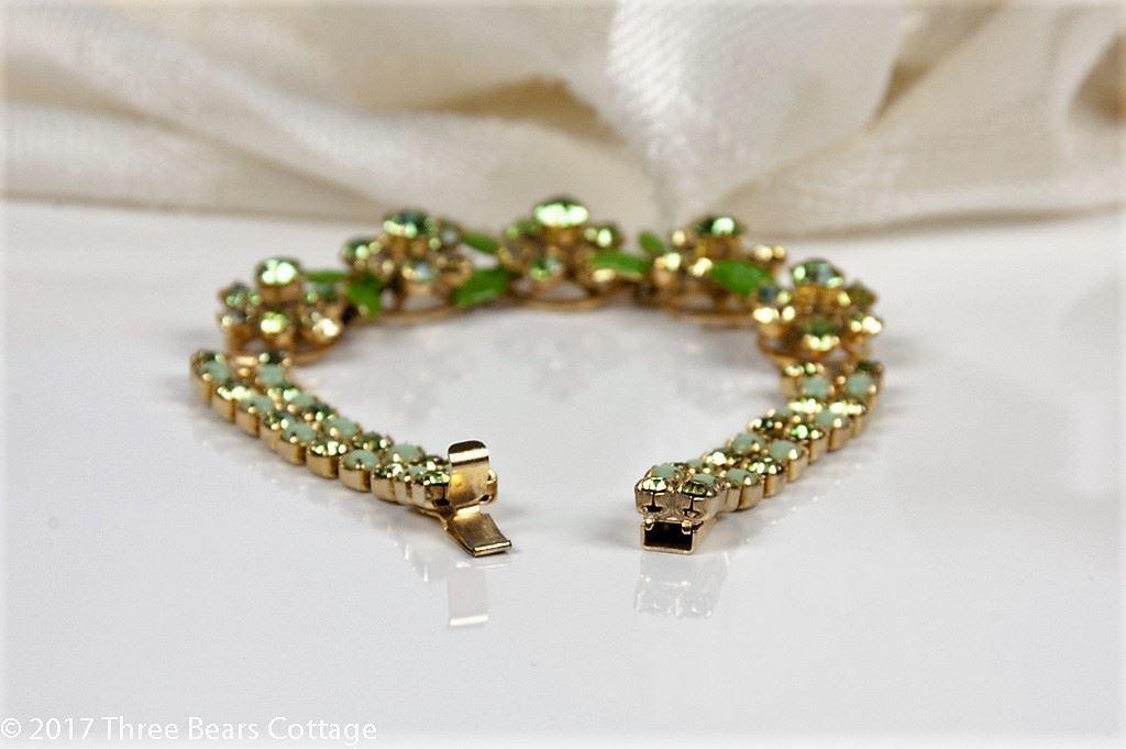 Weiss Green Floral Tennis Bracelet