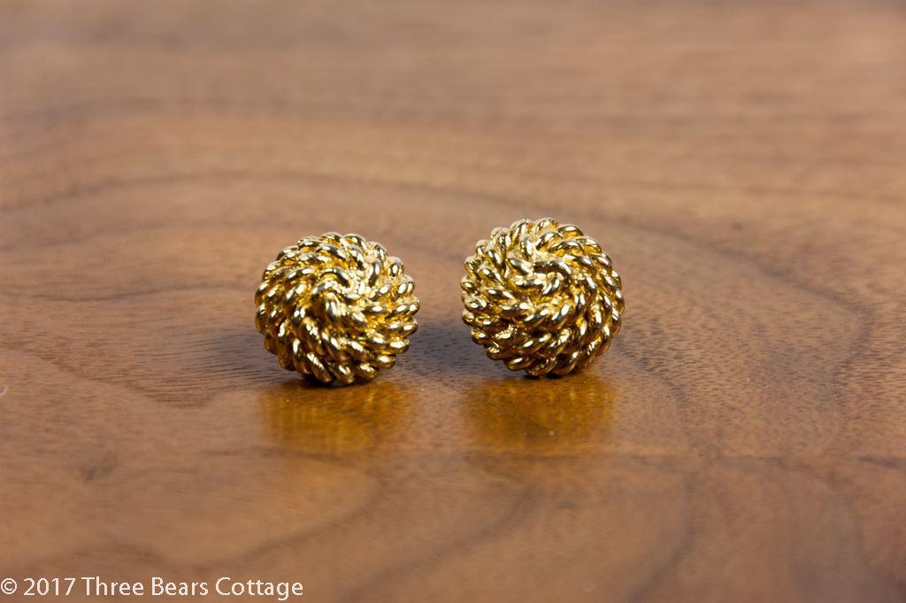 Monet Rope Twist Stud Earrings
