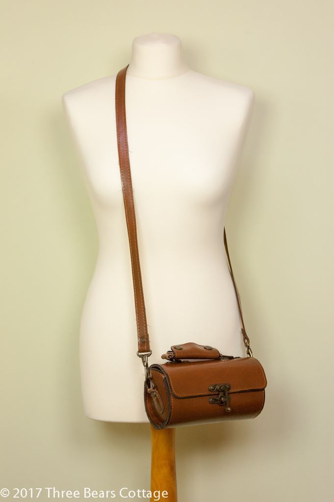 Small Leather Barrel Shoulder and Hand Bag