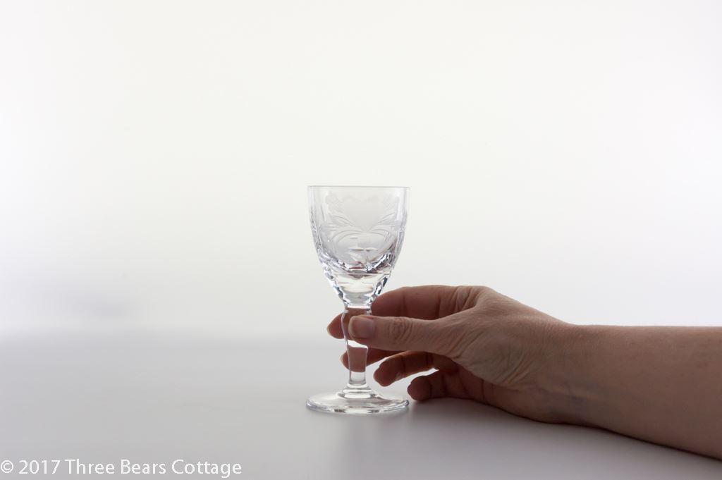 "Royal Brierley ""Honeysuckle"" Lead Crystal Port, Sherry or Liqueur Glasses"