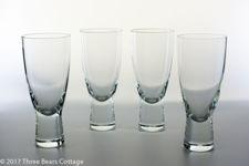 """Holmegaard Large """"Canada"""" Glasses By Per Lutken"""